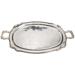 Peruvian Industria Peruana a Gaita Silver Oblong Serving Tray