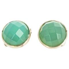Peruvian Opal Sterling Silver Clip-On Earrings