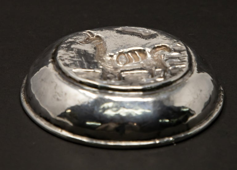 Peruvian Sterling Silver Dish In Fair Condition For Sale In Cookeville, TN