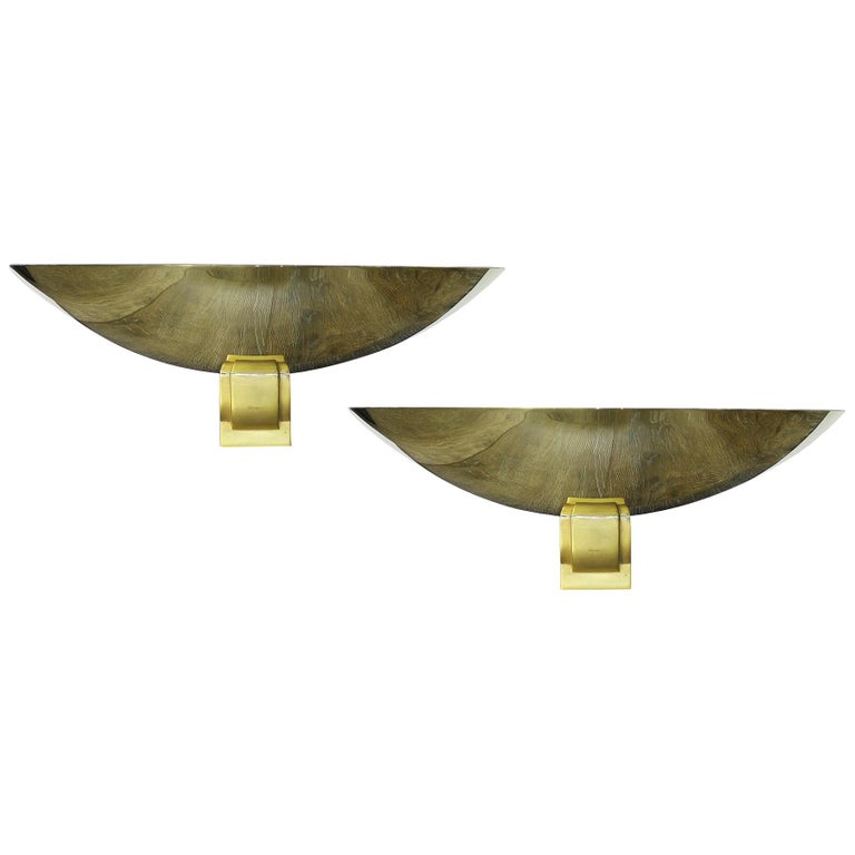 Perzel Rare Pair of Large Sconces France 1950 (Attributed to) For Sale
