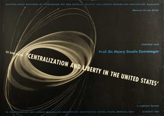 Original Vintage Poster Centralization And Liberty In The United States Commager