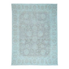 Peshawar White Wash Hand Knotted Pure Wool Oriental Rug