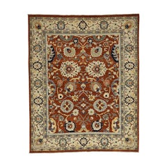 Peshawar with All-Over Design Hand Knotted Pure Wool Rug