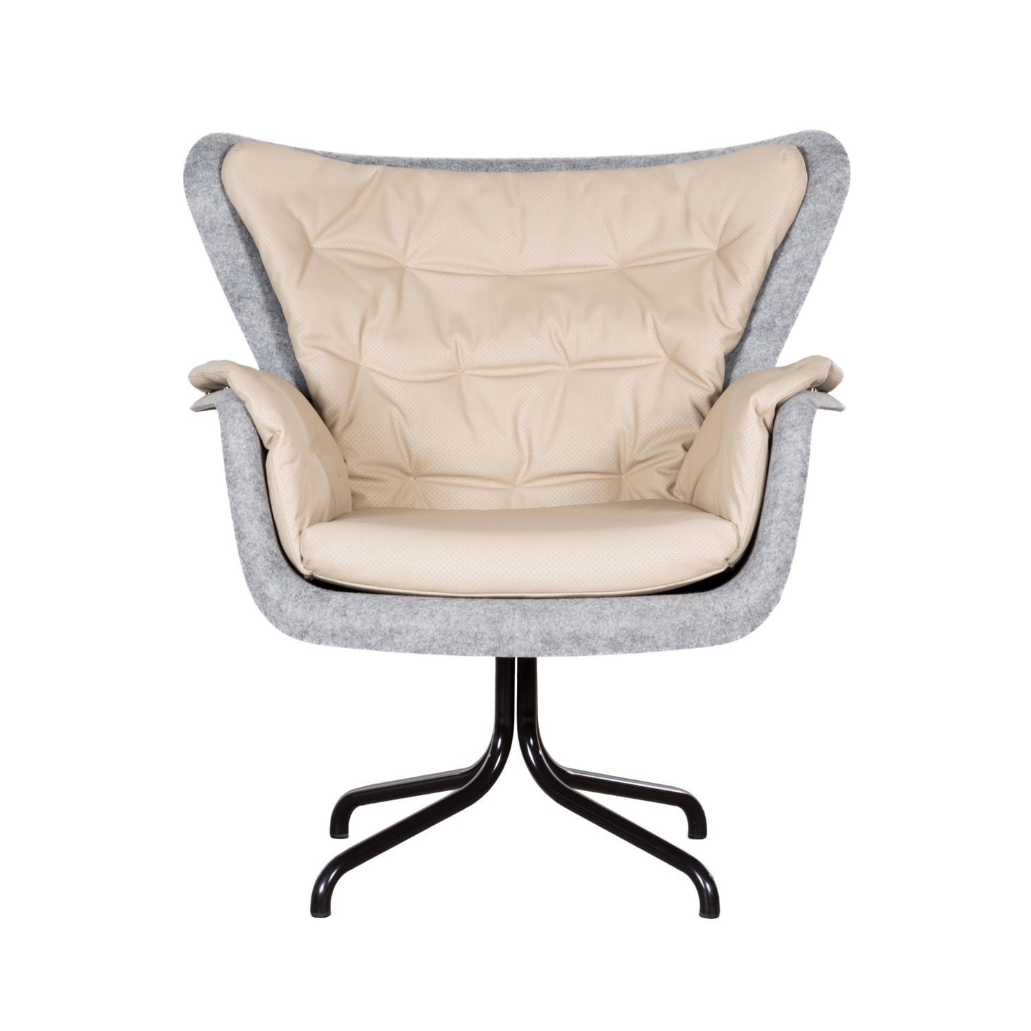 Egg Chair Bruin Leer.Pet Eco Friendly Armchair In Grey And Cream Leather Netherlands