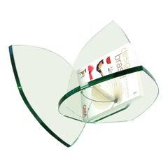 Pétalas Brazilian Contemporary Glass Magazine Holder by Lattoog