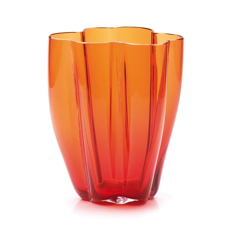 Modern 21st Century Alessandro Mendini Murano Glass Large Vase Various Colors For Sale