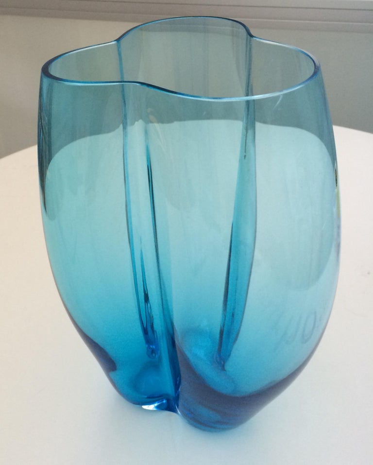 Italian 21st Century Alessandro Mendini Murano Glass Large Vase Various Colors For Sale