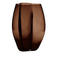 Petalo Brown Large Vase by Alessandro Mendini