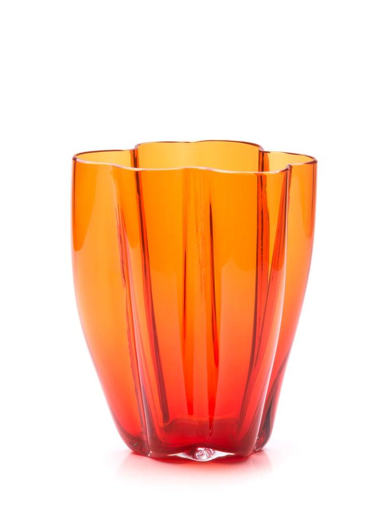 Italian Petalo Small Vase 6 Petals in Murano Glass by Alessandro Mendini For Sale