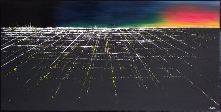 Pete Kasprzak Landscape Painting - Griffith Sunset Aerial II