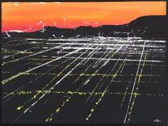 La Brea Sunset Aerial