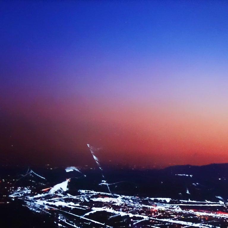 Burbank Hills Sunset - Photograph by Pete Kasprzak