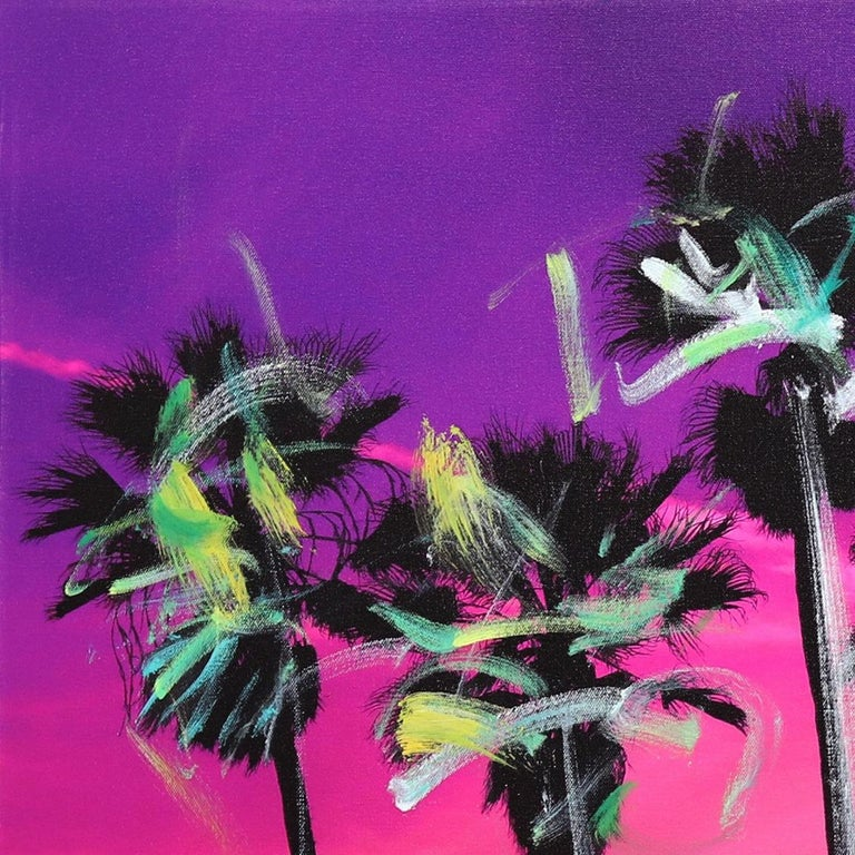 Venice California Pink Palms - Contemporary Photograph by Pete Kasprzak