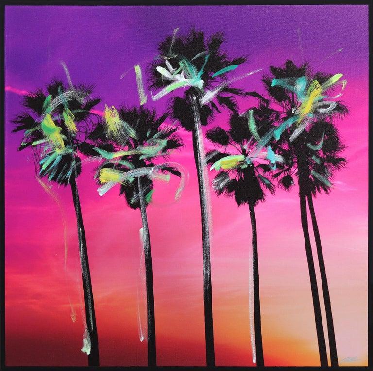 Pete Kasprzak Landscape Photograph - Venice California Pink Palms