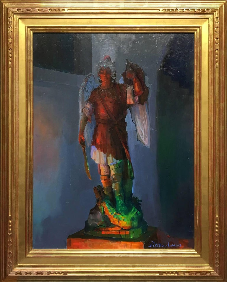 Peter Adams Figurative Painting - Archangel Michael and the Serpent; Sacred Heart Academy