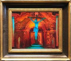Crucifix and Retablo at Serra Chapel; Mission San Juan Capistrano