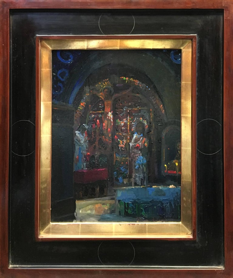 Peter Adams Interior Painting - Golgotha (Station 12) inside the Church of the Holy Sepulcher