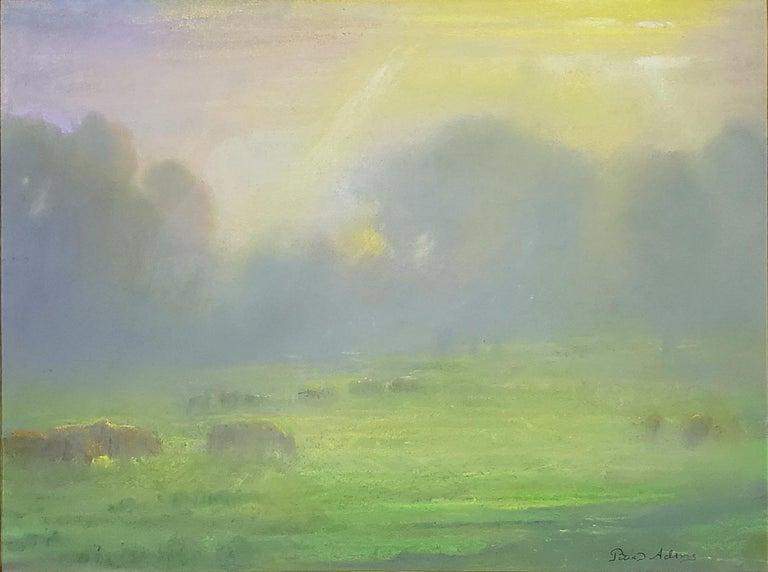 Pastoral Morning; Redding - Painting by Peter Adams