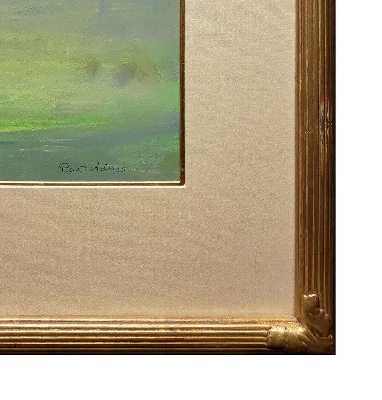 Pastoral Morning; Redding - Beige Landscape Painting by Peter Adams