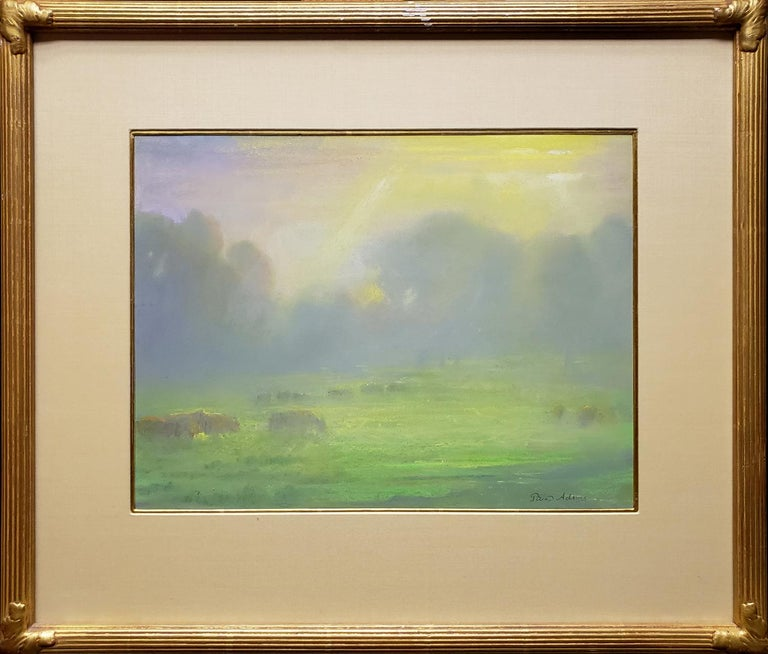 Peter Adams Landscape Painting - Pastoral Morning; Redding