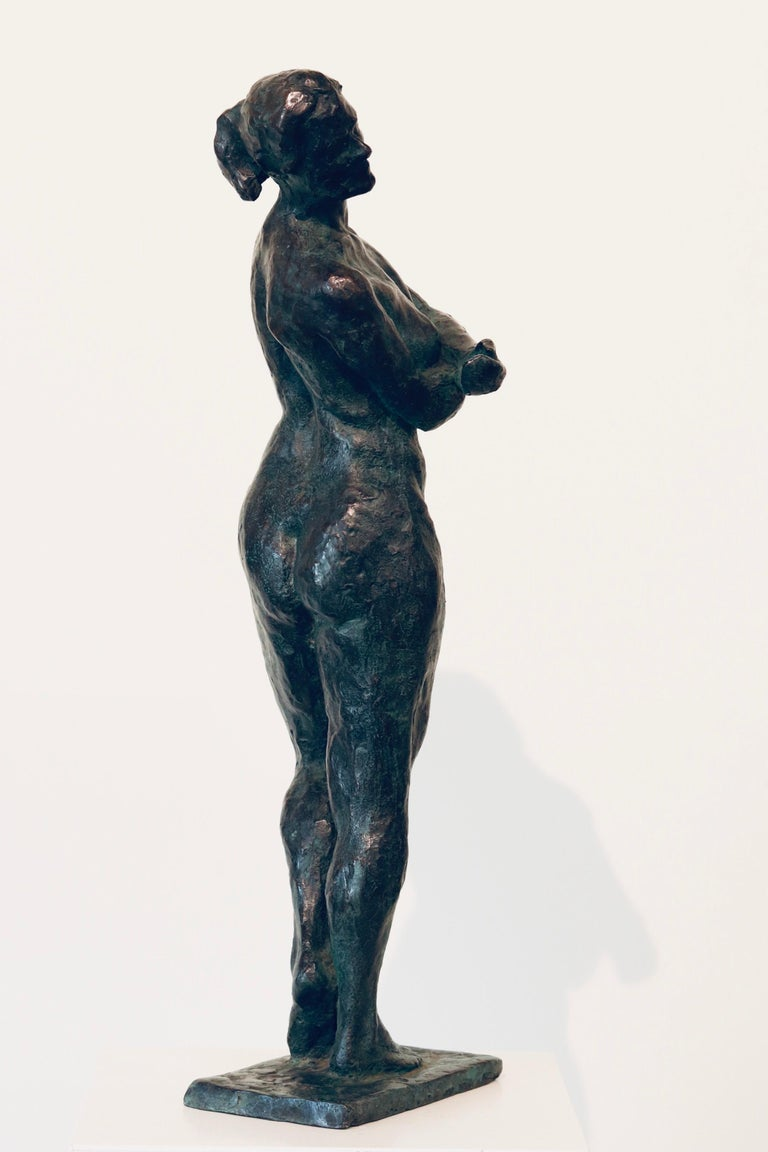 Carmen- 21st Century Contemporary  Dutch Sculpture of a Nude Posing Woman For Sale 1