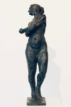 Carmen- 21st Century Contemporary  Dutch Sculpture of a Nude Posing Woman
