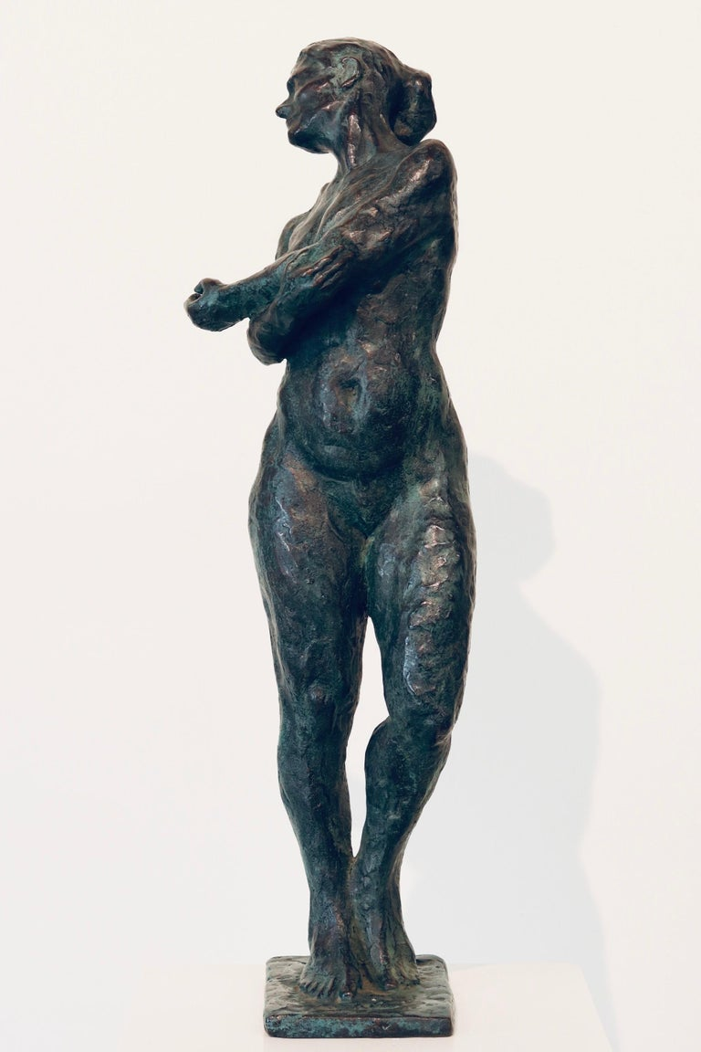Peter Adams Nude Sculpture - Carmen- 21st Century Contemporary  Dutch Sculpture of a Nude Posing Woman