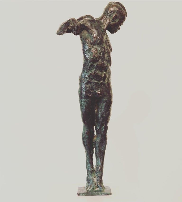 Peter Adams Figurative Sculpture - Ray- 21st Century Sculpture of a male dancer