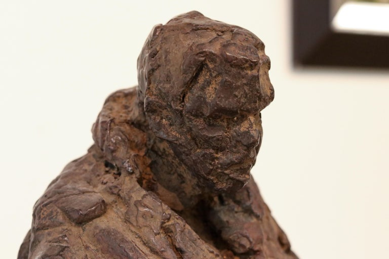 Retirement - 21st Century Contemporary Bronze Sculpture of a sitting old Man  For Sale 2
