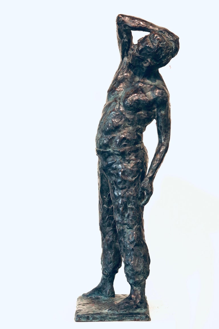 Roy- 21st Century Sculpture of a bare chested male figure standing For Sale 1