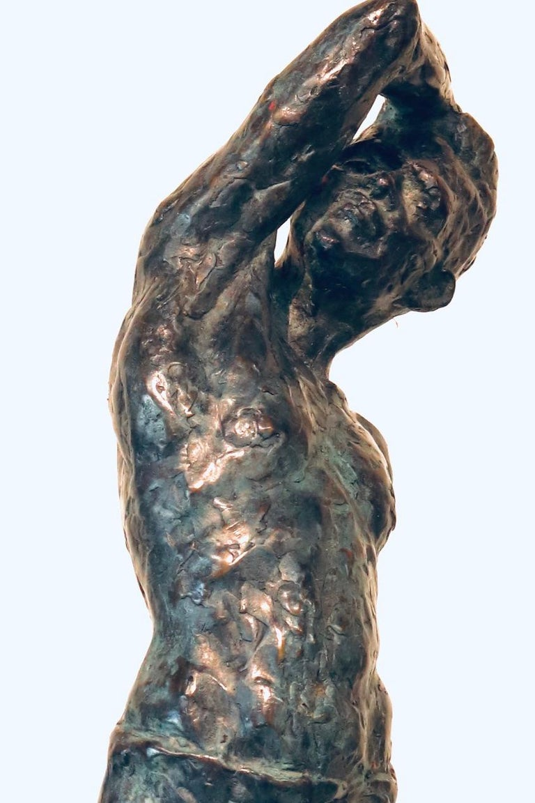 Roy- 21st Century Sculpture of a bare chested male figure standing For Sale 2