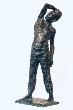 Roy- 21st Century Sculpture of a bare chested male figure standing