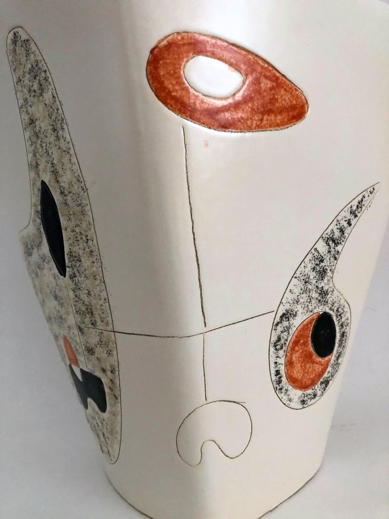 Peter and Denise Orlando Large Ceramic Vase, 1950s In Good Condition For Sale In Paris, FR