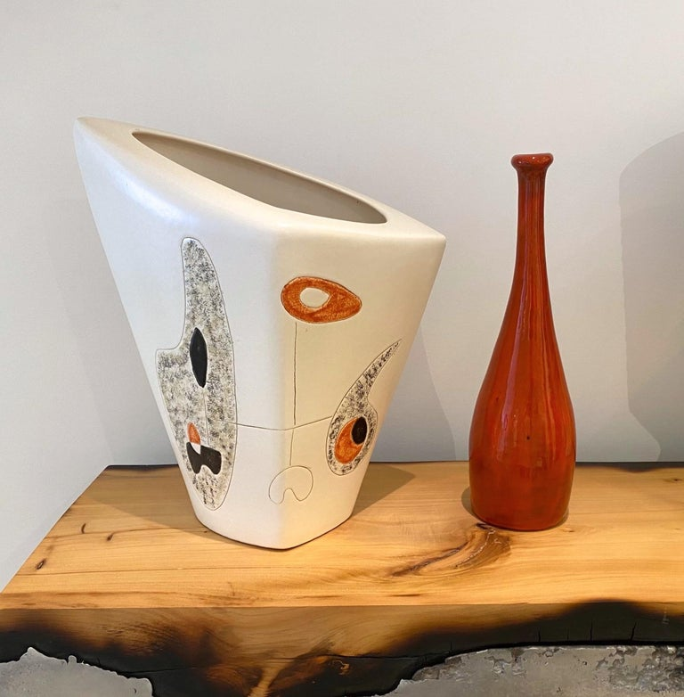 Mid-20th Century Peter and Denise Orlando Large Ceramic Vase, 1950s For Sale