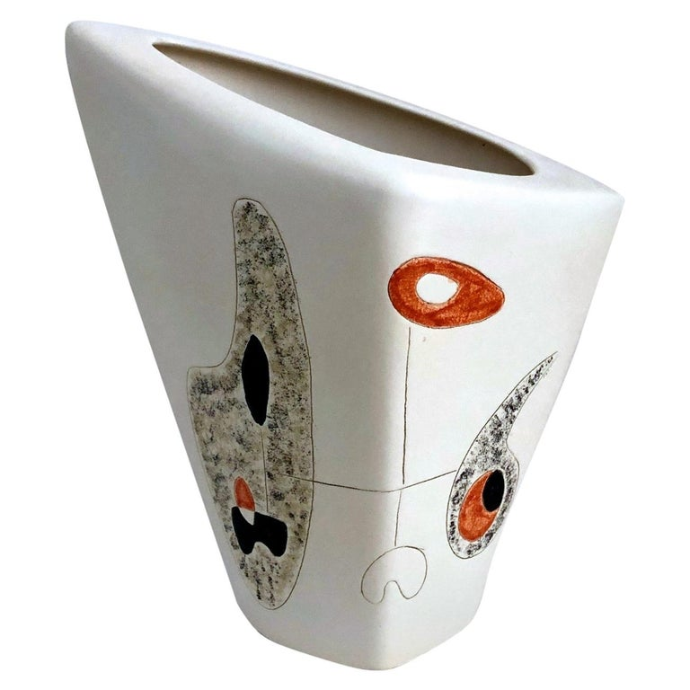 Peter and Denise Orlando Large Ceramic Vase, 1950s For Sale