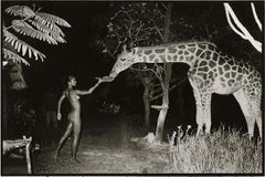 Attributed to Peter Beard - Beyond Gauguin Night Giraffe Feeding - Framed