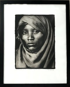 Boran Woman at Marsabit Hospital, Platinum Print, Black & White, Signed, Framed