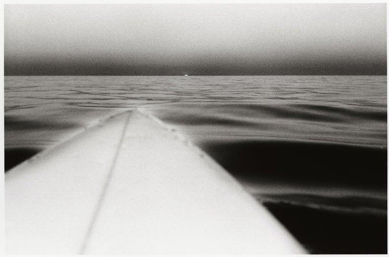 Surfboard with Setting Sun, Santa Monica, California, U.S.A. – Anthony Friedkin - Photograph by Anthony Friedkin