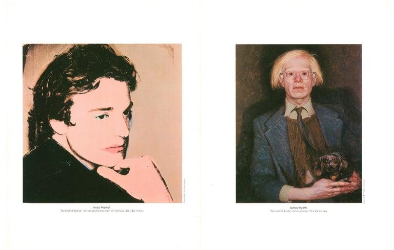 Andy Warhol Jamie Wyeth (museum program)  - Black Black and White Photograph by Peter Beard