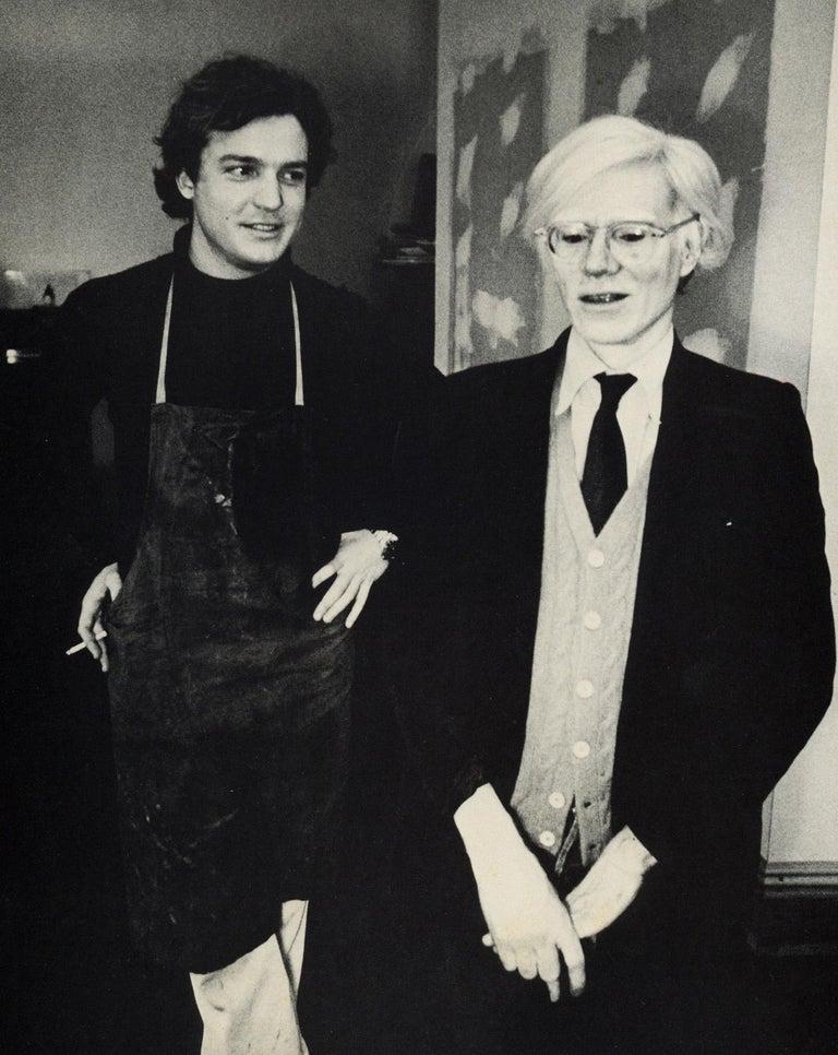 Peter Beard Black and White Photograph - Andy Warhol Jamie Wyeth (museum program)