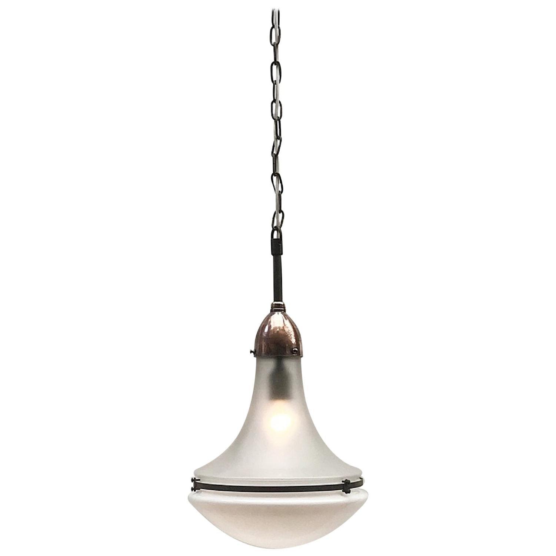 Peter Behrens Luzette Pendant Lamp, circa 1910, Germany