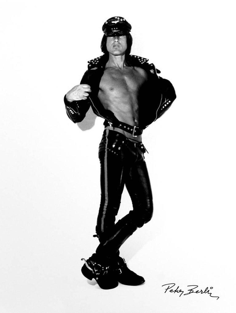 Peter Berlin Portrait Photograph - Self Portrait in Black Leather II
