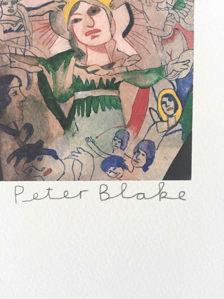 Tattooed People, Betty: Limited Edition Print by Sir Peter Blake For Sale 1