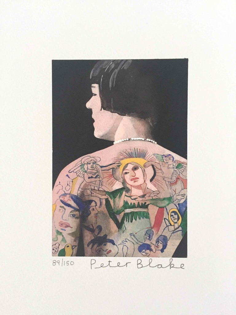 Tattooed People, Betty: Limited Edition Print by Sir Peter Blake - White Figurative Print by Peter Blake