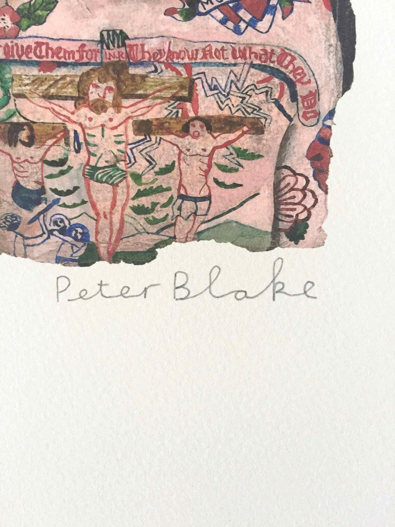 Tattooed People, Dan: Limited Edition Print by Sir Peter Blake For Sale 1