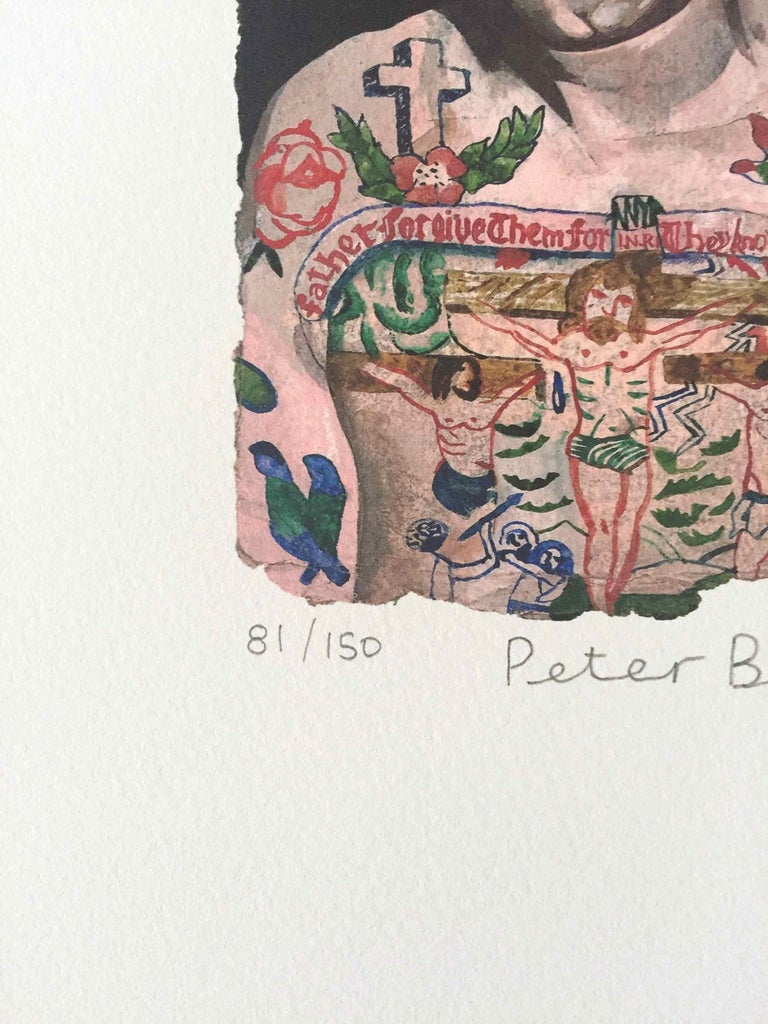 Tattooed People, Dan: Limited Edition Print by Sir Peter Blake For Sale 2