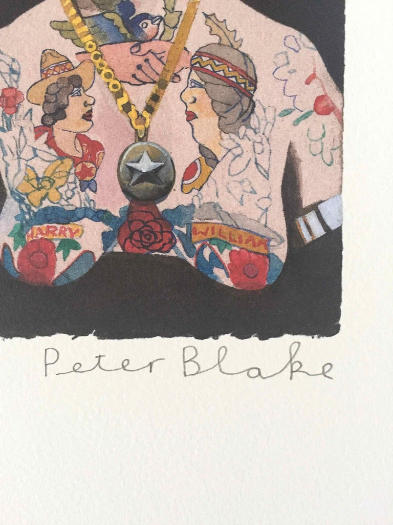 Tattooed People, Doris: Limited Edition Print by Sir Peter Blake For Sale 1