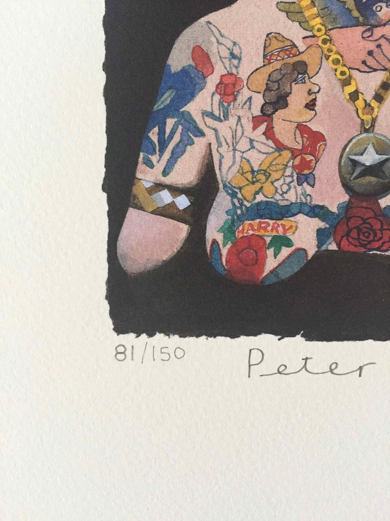 Tattooed People, Doris: Limited Edition Print by Sir Peter Blake For Sale 2