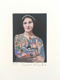 Tattooed People, Emily: Limited Edition Print by Sir Peter Blake