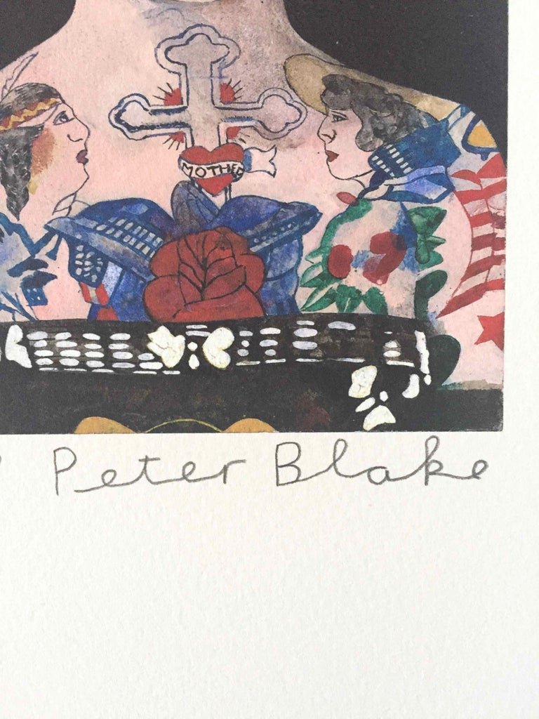 Tattooed People, Gloria: Limited Edition Print by Sir Peter Blake For Sale 1
